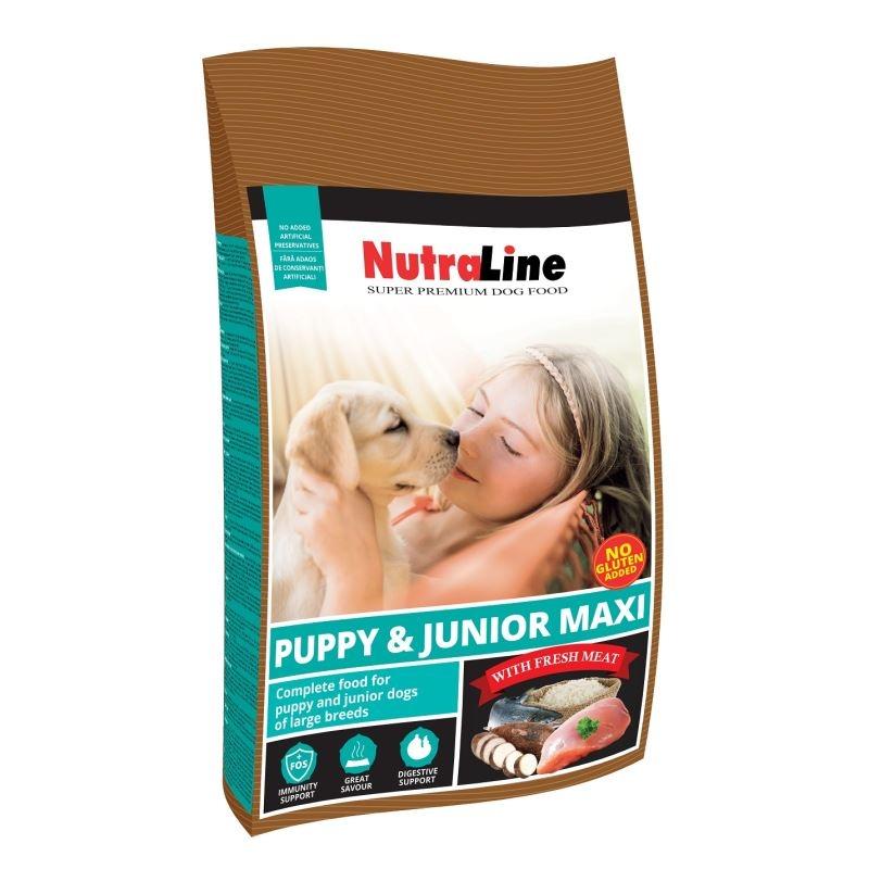 NUTRALINE CAINE PUPPY&JUNIOR MAXI 12,5 KG imagine