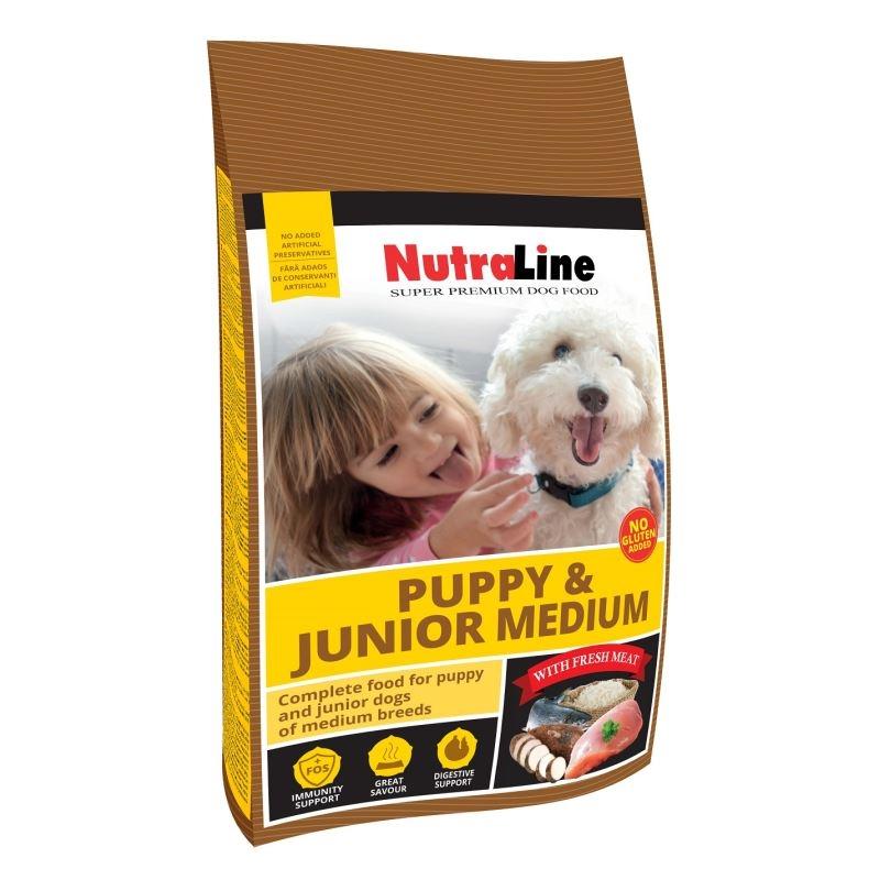 NUTRALINE CAINE PUPPY&JUNIOR MEDIU 12,5 KG imagine