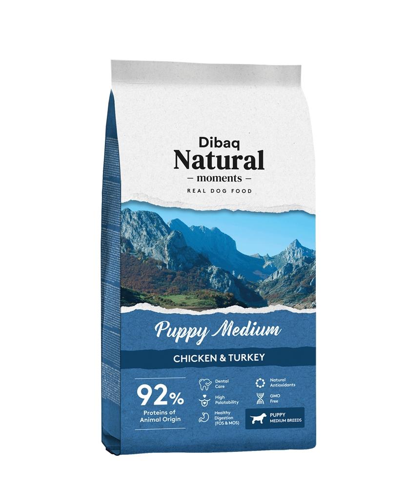 Dibaq DNM Puppy Medium, Chicken & Turkey, 15kg imagine