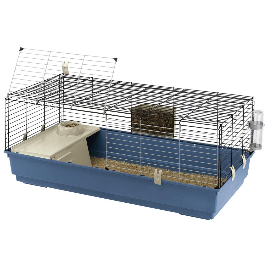 Cusca Rabbit 120 Albastru / Negru, 118 x 58 x 51 cm imagine