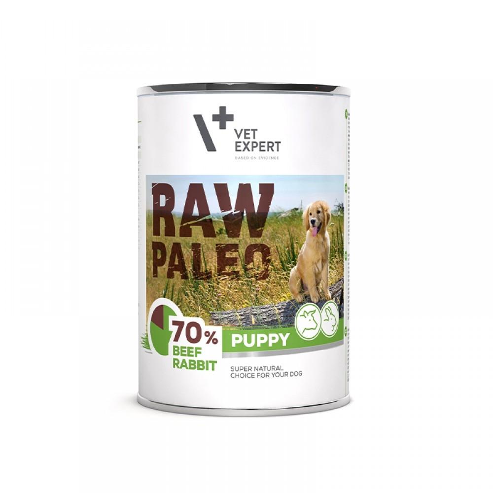 Raw Paleo Puppy DP, vita & iepure 400 g imagine