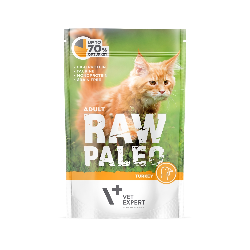 Hrana umeda, RAW PALEO CAT, adult, carne de curcan, 100 g imagine