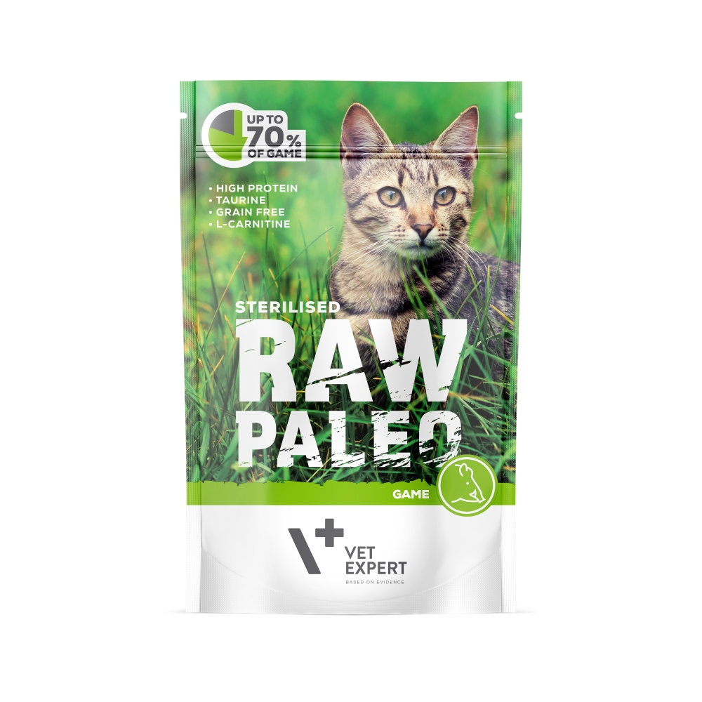Hrana Umeda Pentru Pisici Sterilizate, Raw Paleo Cat, Vanat, 100 G
