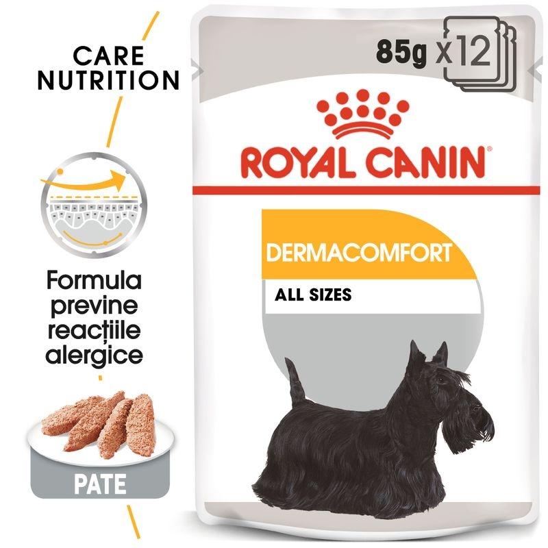 royal canin dermacomfort loaf care, 1 plic x 85 g - rc ccn wet dermacomfort mv eretailkit ro ro 2 - Royal Canin Dermacomfort Loaf Care, 1 plic x 85 g