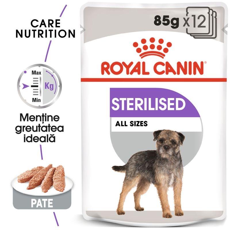 Royal Canin Sterilised Loaf Care Dog, 12 plicuri x 85 g imagine