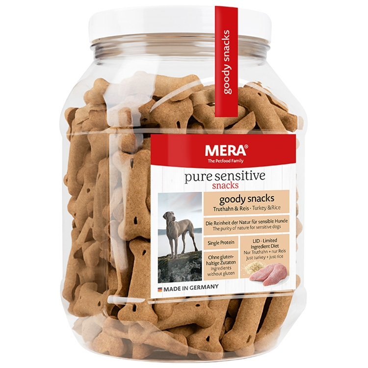 Biscuiti caini, Mera Goody Snacks, Curcan si Orez, 600g imagine