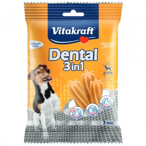 Recompensa Pentru Caini, Vitakraft Dental Snack 3in1 Small, 120 G imagine