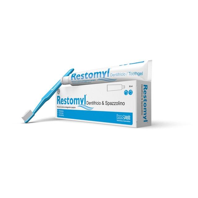 Restomyl, gel dentar cu periuta, 50 ml imagine