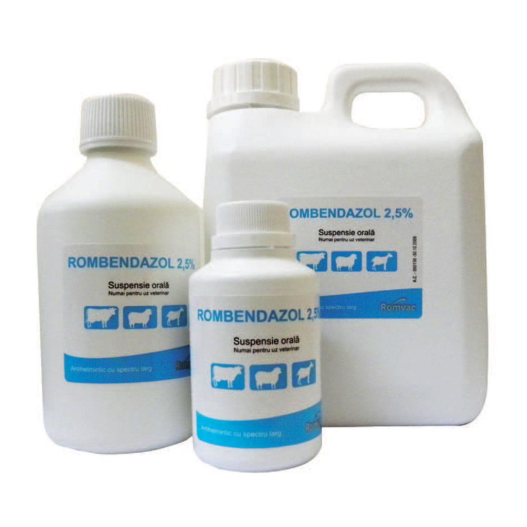 ROMBENDAZOL 2,5 % Suspensie orala 250 ml imagine