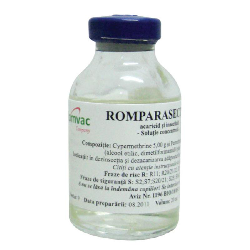 ROMPARASECT 5 % Solutie concentrata 20 ml imagine