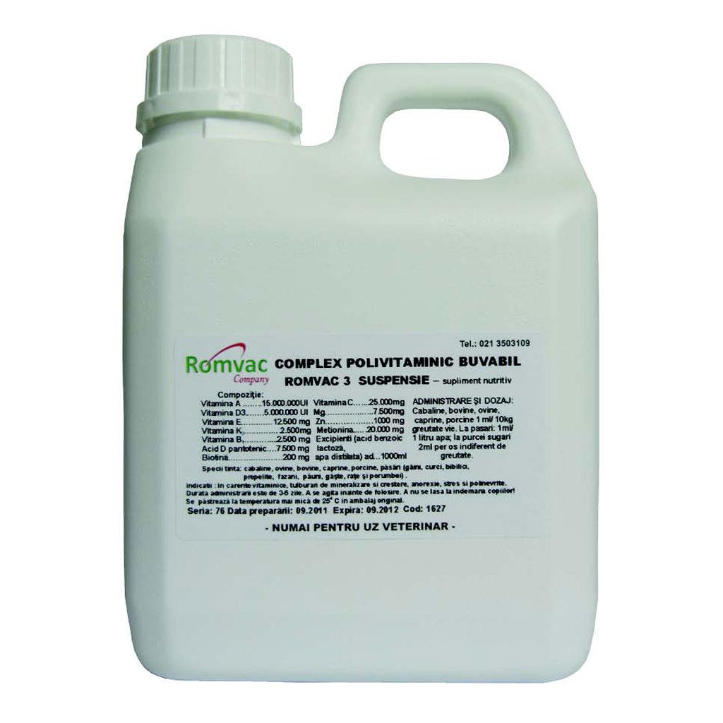Complex Polivitaminic buvabil Romvac-3 50 ml imagine