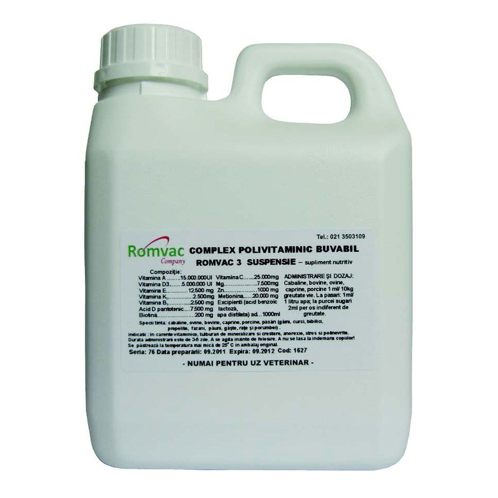 Complex Polivitaminic buvabil Romvac-3 100 ml imagine