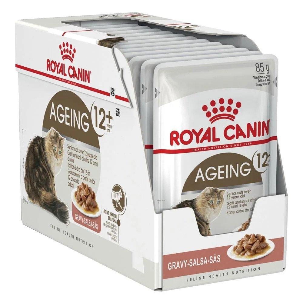 Royal Canin Feline Ageing +12, 12 plicuri x 85 g imagine