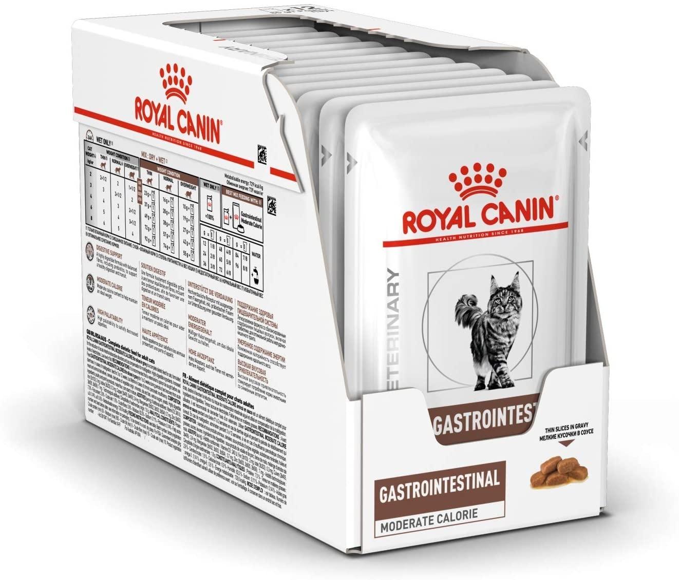 Royal Canin Gastro Intestinal Moderate Calorie Cat, 12 plicuri x 85 g imagine