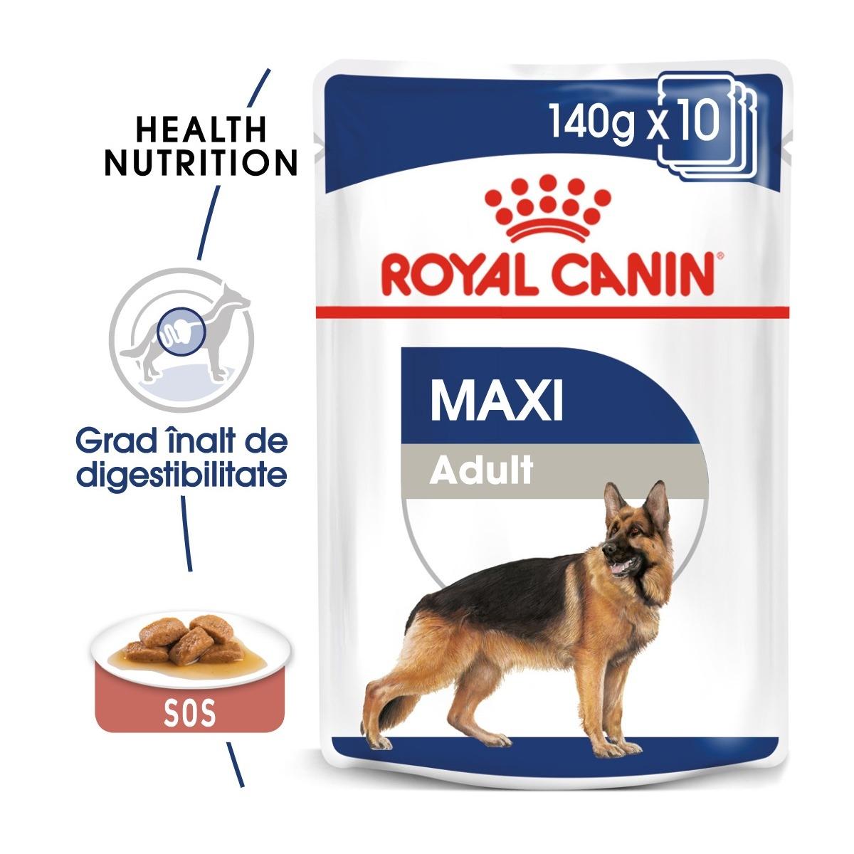Royal Canin Maxi Adult, 10 x 140 g imagine