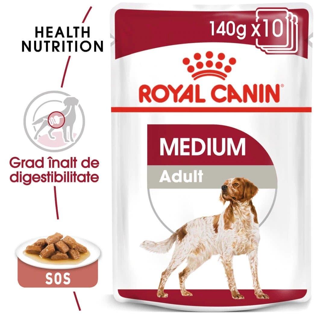 Royal Canin Medium Adult, 10 x 140 g imagine