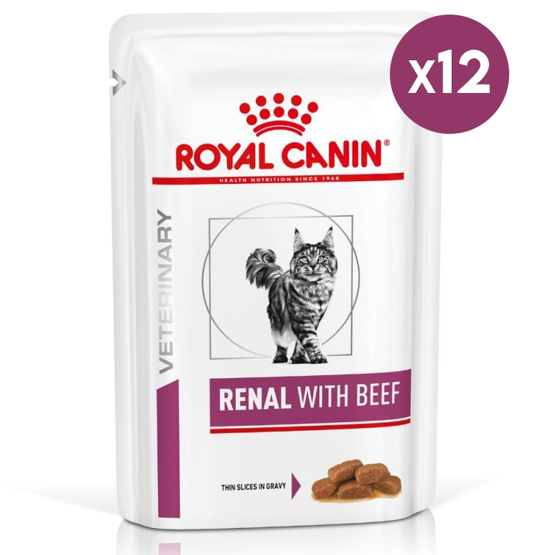 Royal Canin Renal with Beef, 12 x 85 g imagine