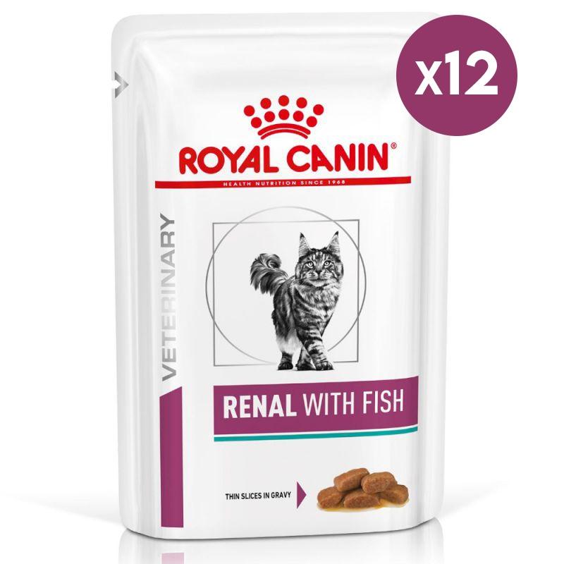 Royal Canin Renal with Fish, 12 plicuri x 85 g imagine