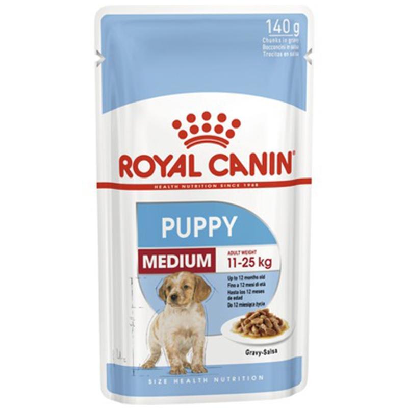 Royal Canin Wet Medium Puppy, 140 g imagine