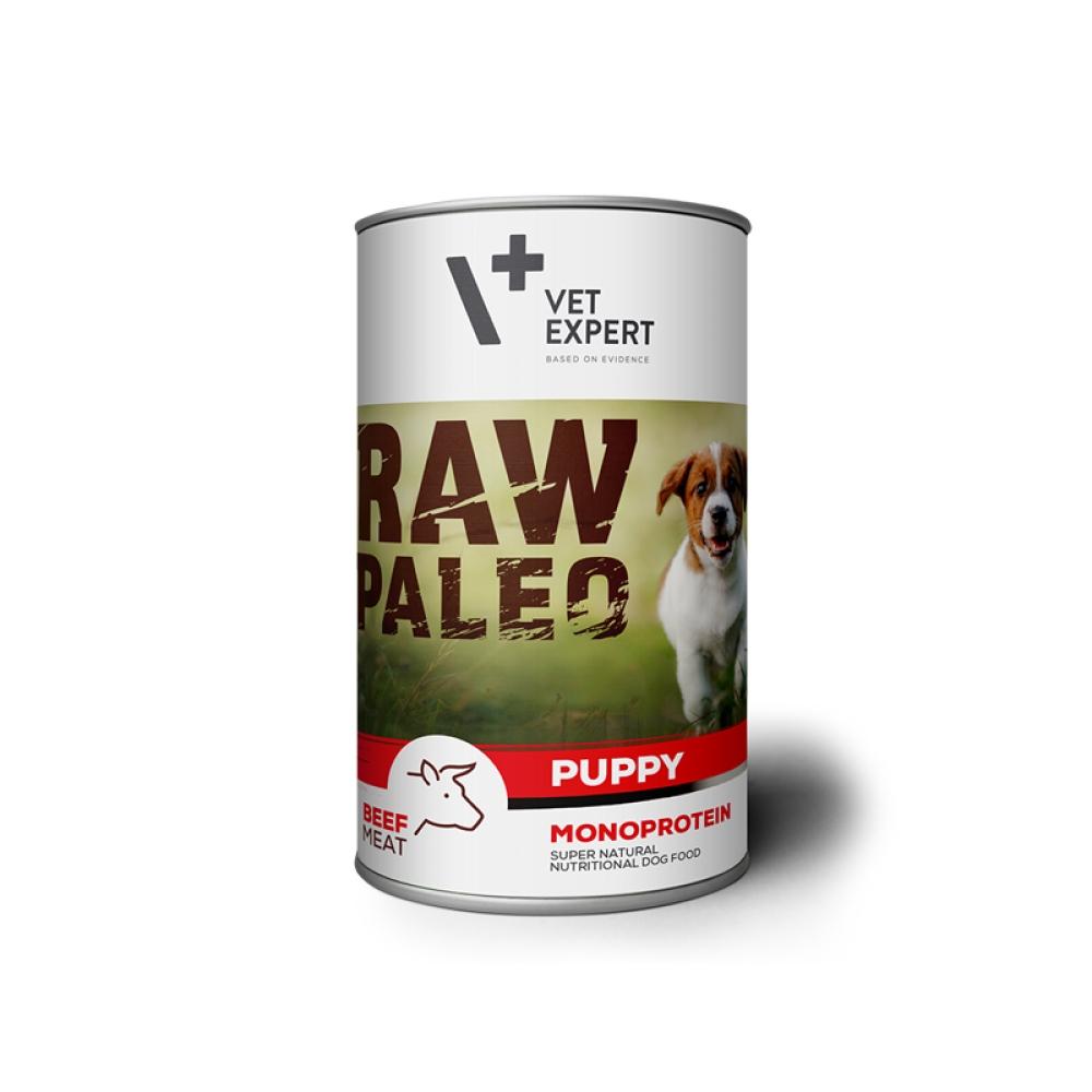 Hrana umeda, RAW PALEO Puppy, carne de vita, 400 g imagine
