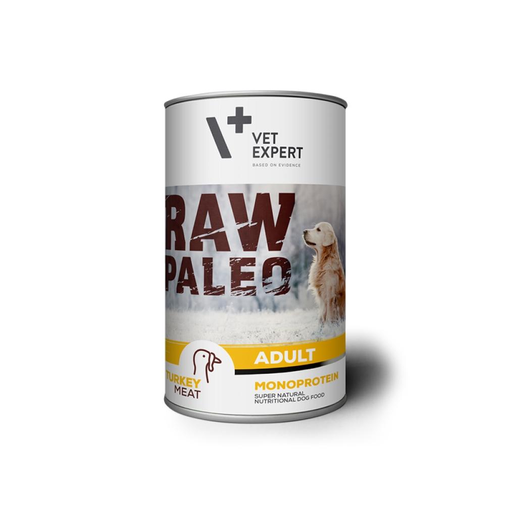 Raw Paleo Adult Dog, curcan 400 g imagine