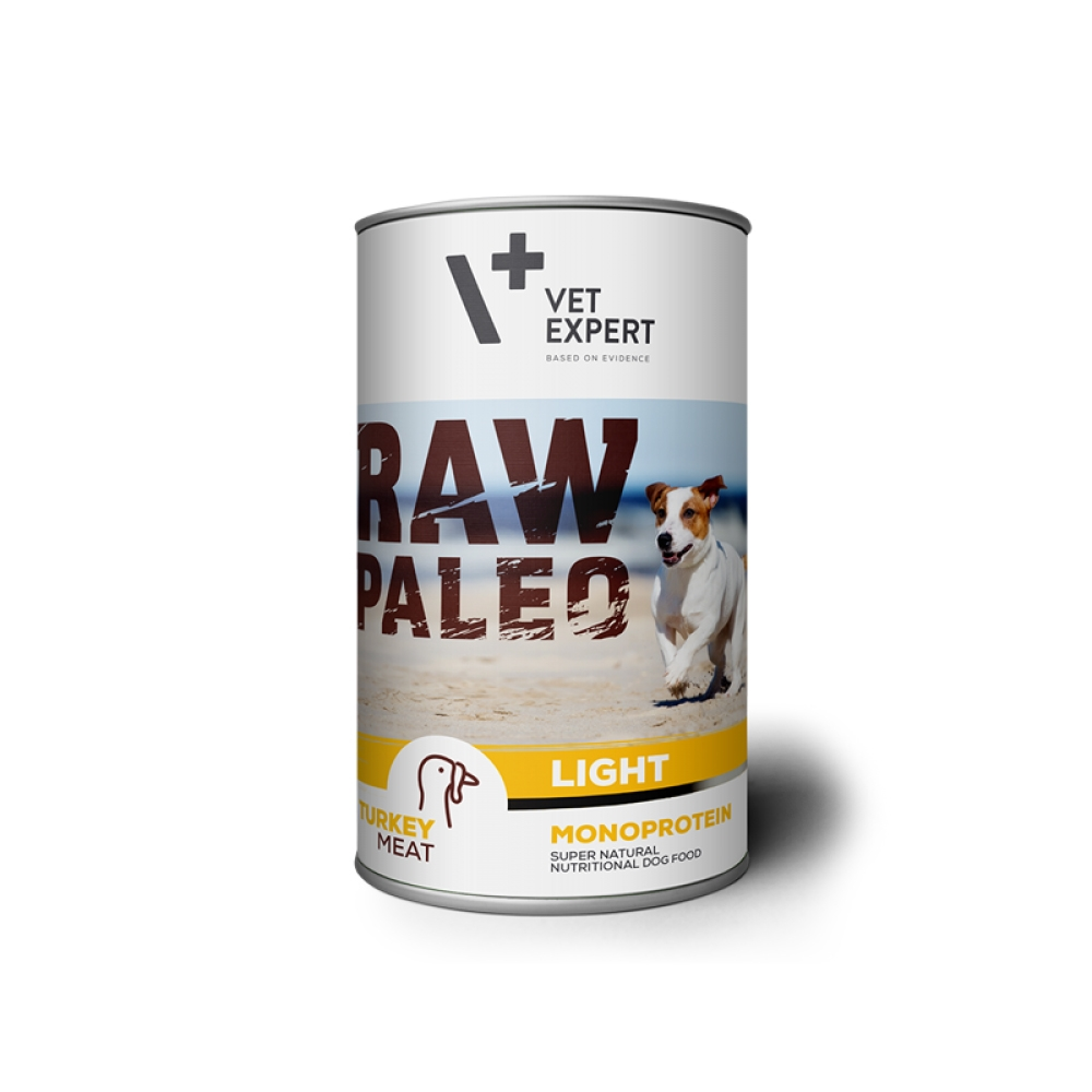 Hrana umeda, RAW PALEO Light, adult, curcan, 400 g imagine