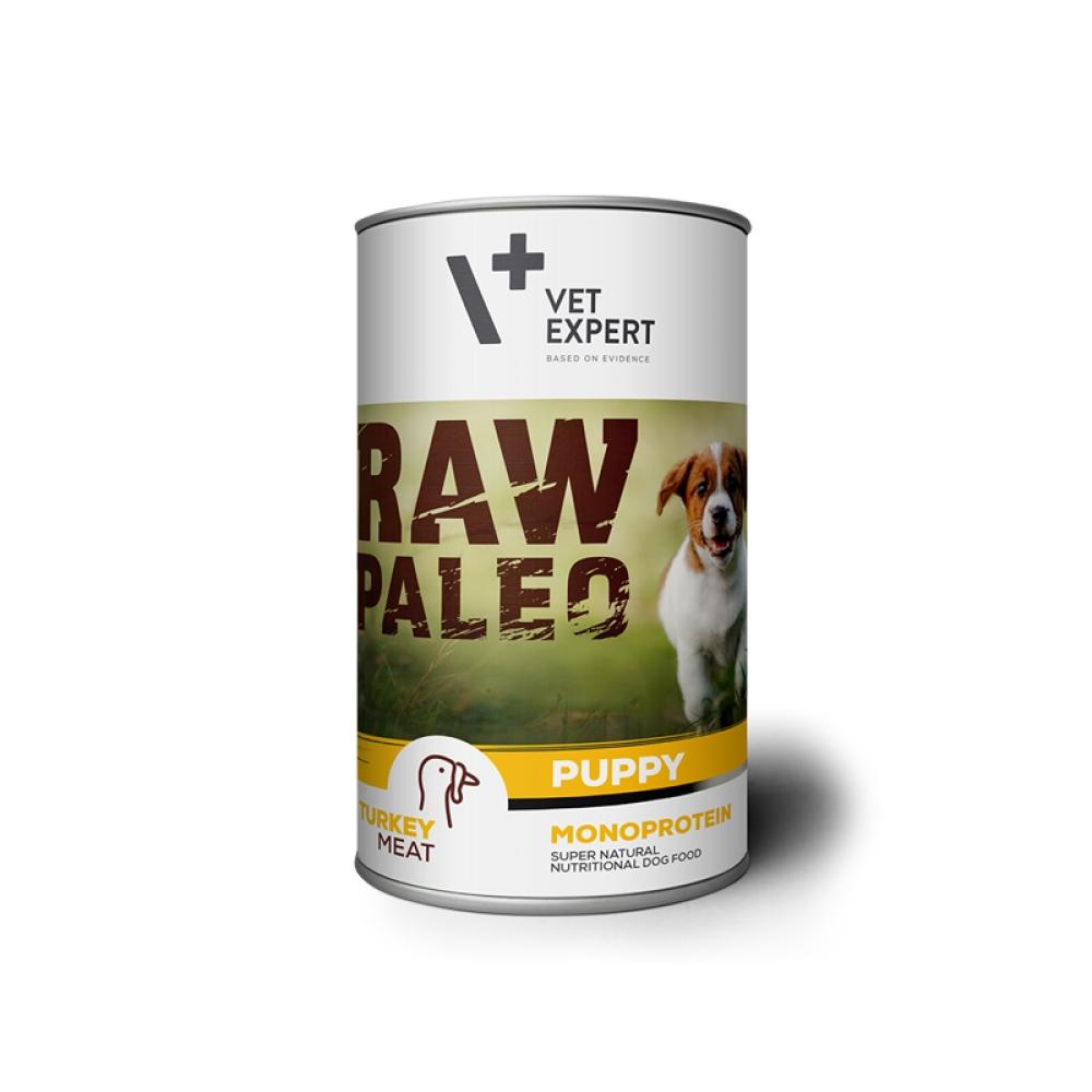 Hrana umeda, RAW PALEO Puppy, carne de curcan, 400 g imagine