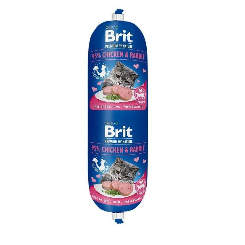 Salam Brit Cat Pui si Iepure, 180 g imagine
