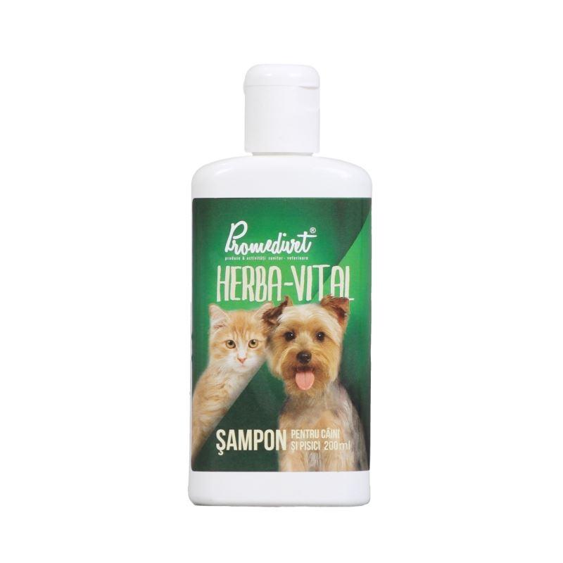 Sampon Herba Vital caini si pisici, 200 ml imagine