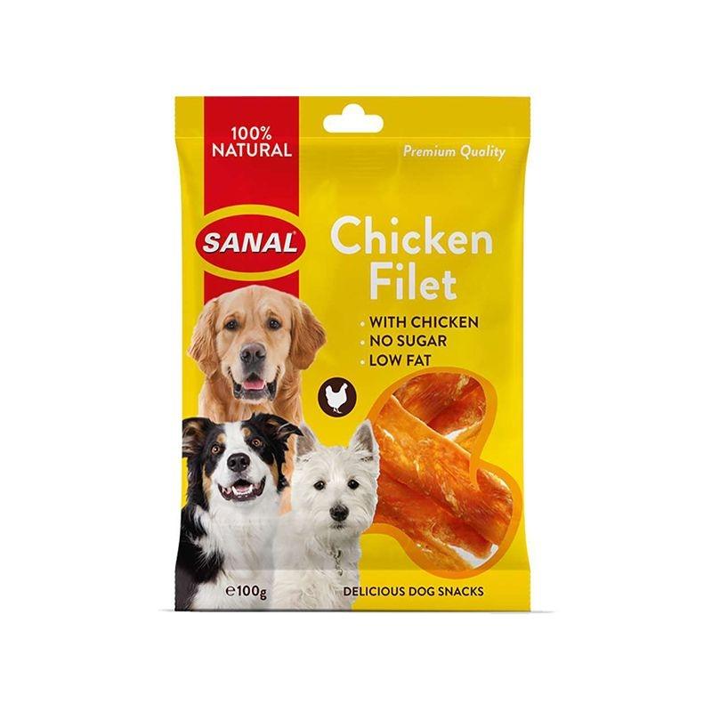 Sanal Dog Chicken Fillet, 100 g imagine