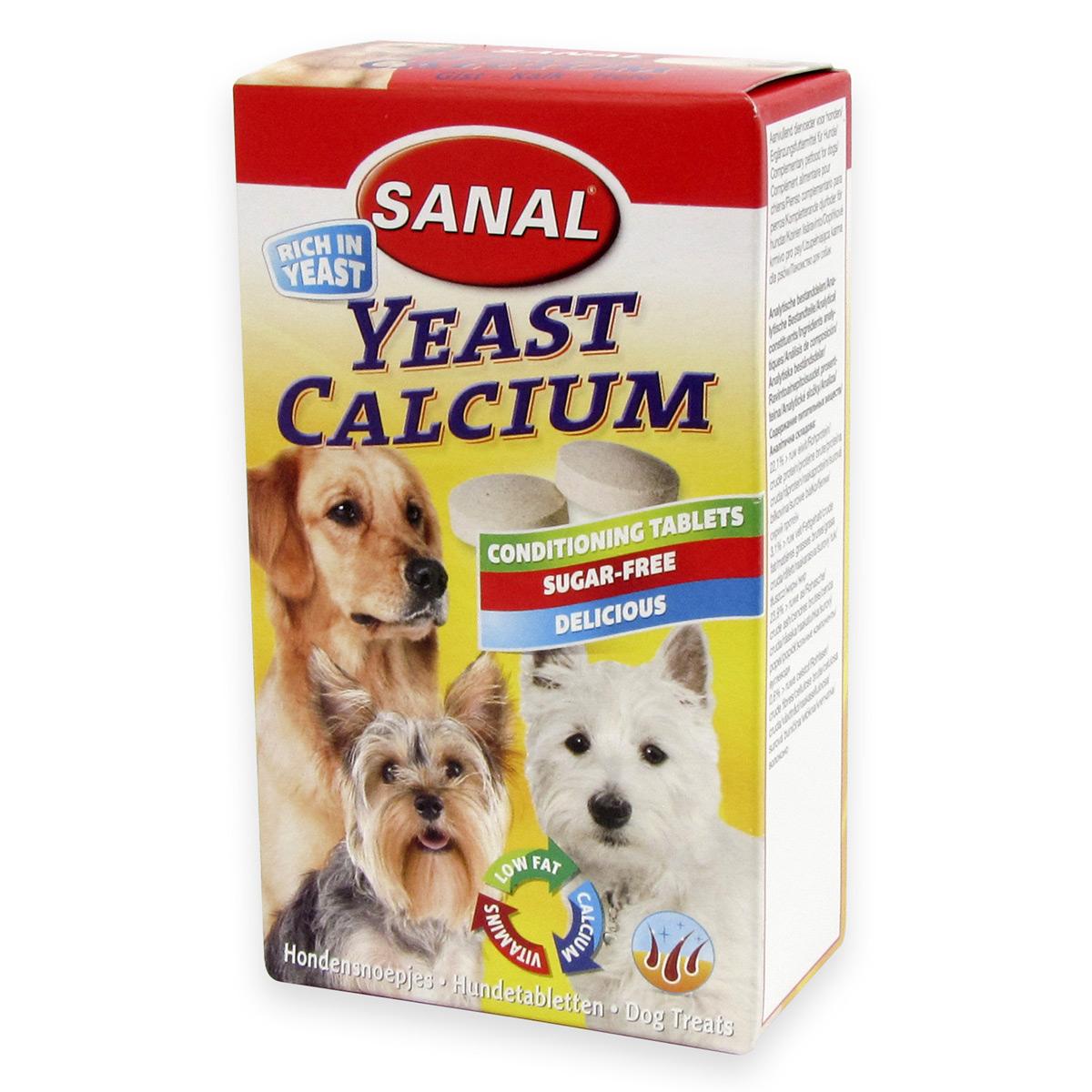 Sanal Dog Yeast Calcium 100 tablete imagine