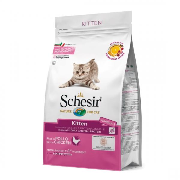 Schesir Cat Kitten Monoprotein Pui, 400 g imagine