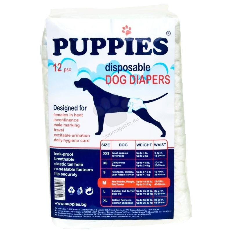 Scutece pentru caini, Puppies M, 12 buc imagine