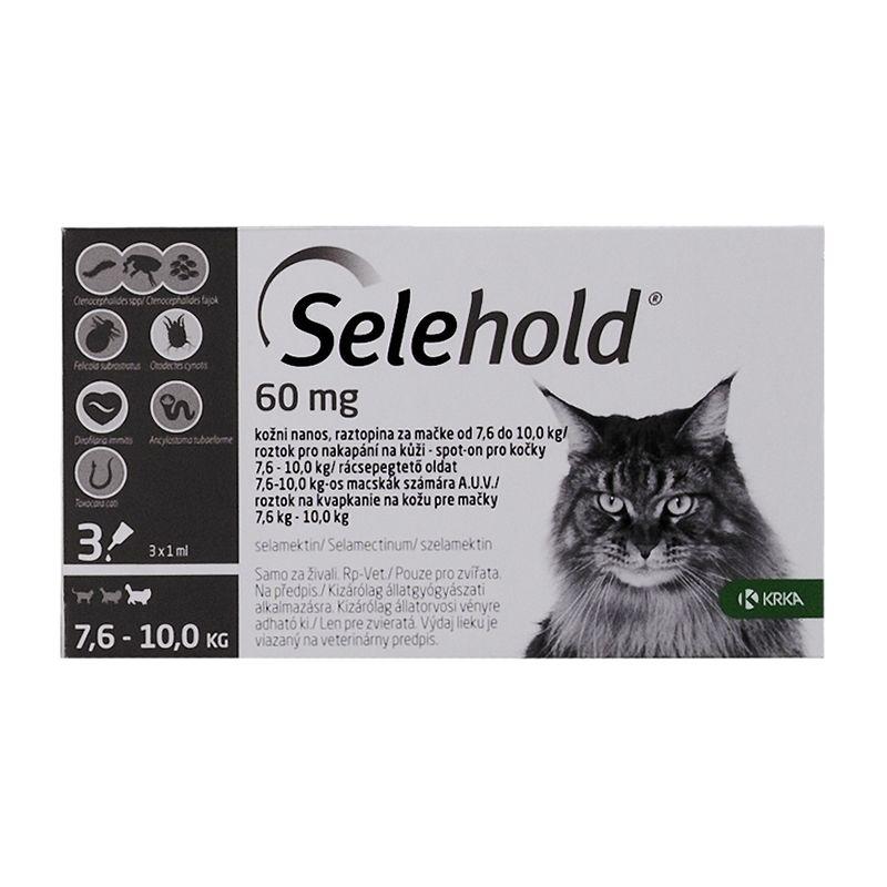 Selehold Cat 60 mg / ml (7.6 - 10 kg), 3 x 1 ml imagine
