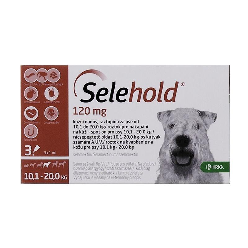 Selehold Dog 120 mg / ml (10.1 - 20 kg), 3 x 1 ml imagine