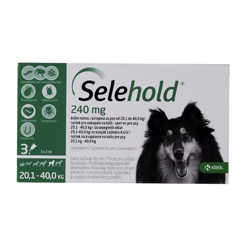 Selehold Dog 240 mg / ml (20.1 - 40 kg), 3 x 2 ml imagine