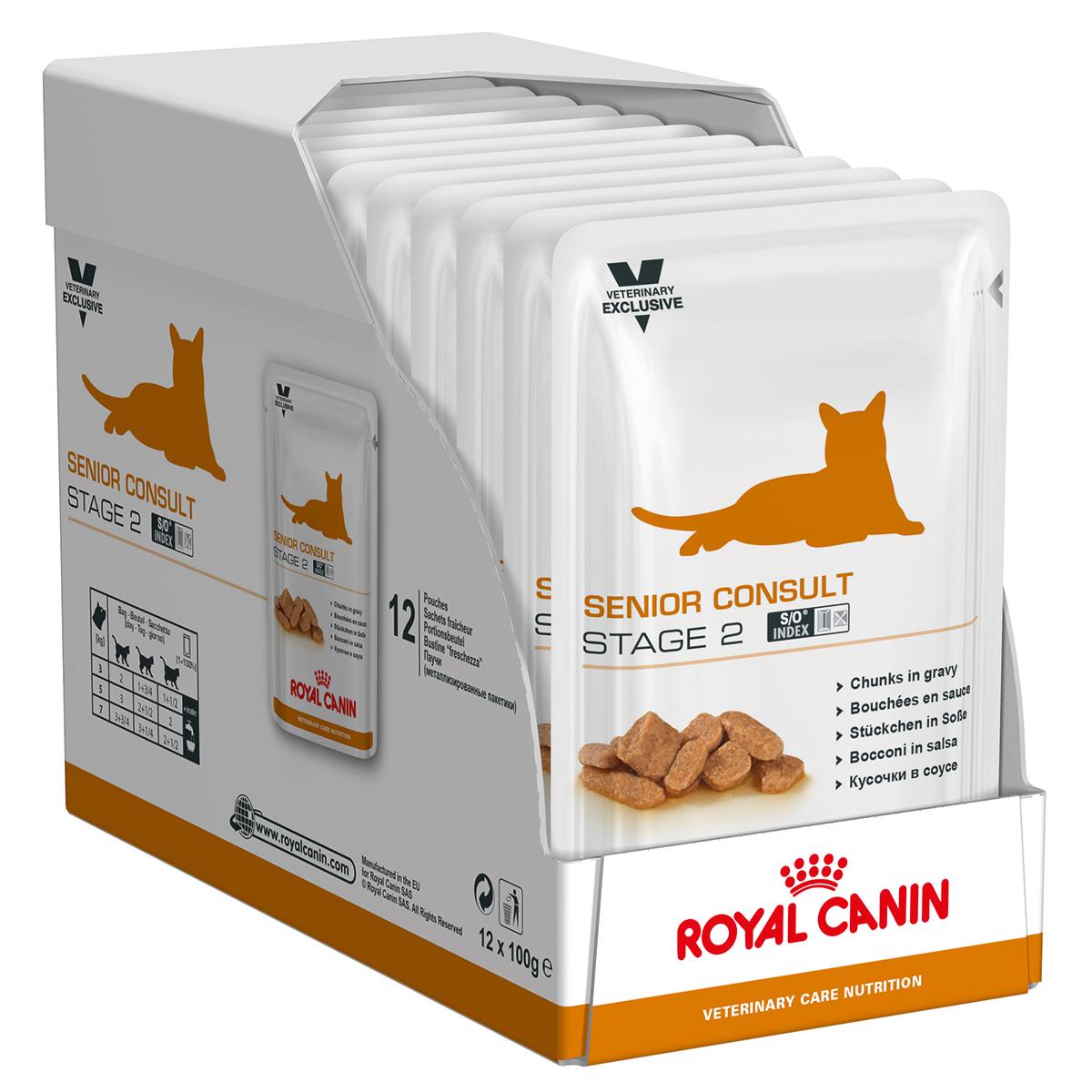 Royal Canin Senior Consult Stage II Cat 12 plicuri x 85 g imagine