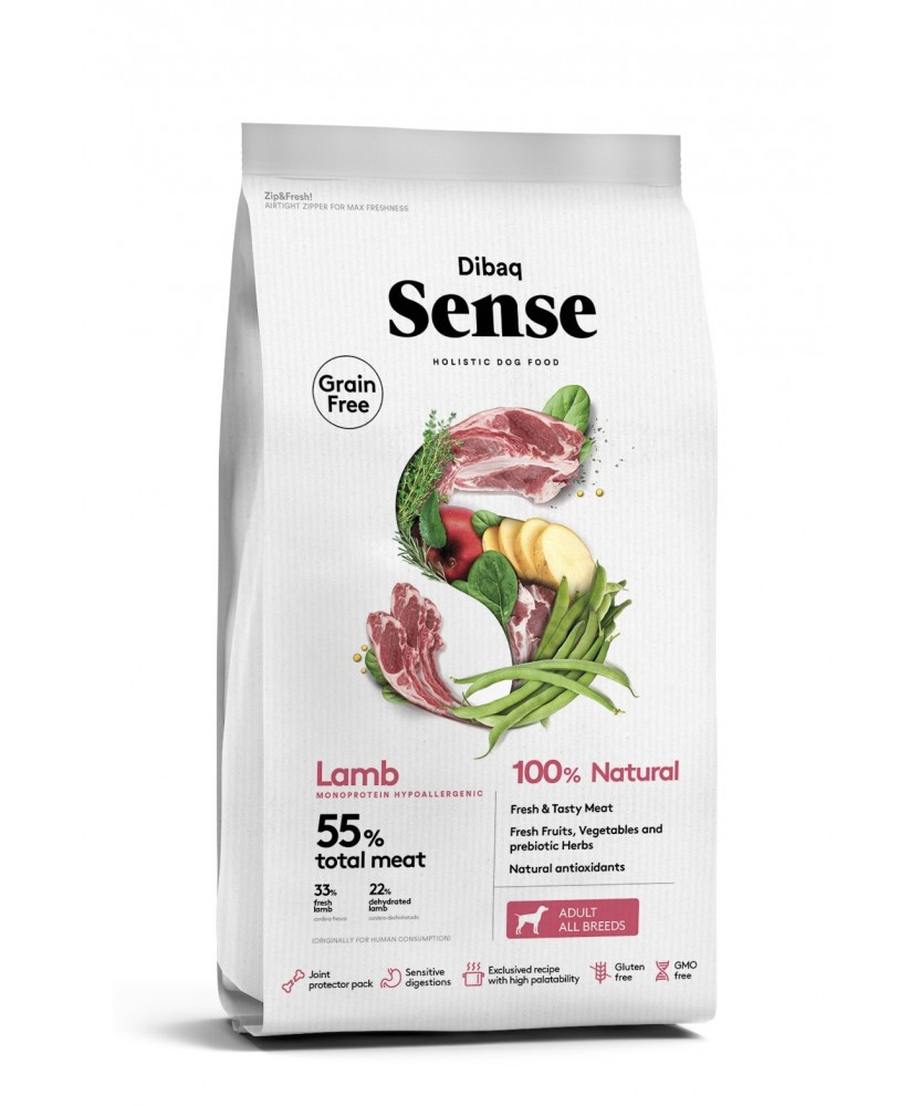 Dibaq Grain Free Sense Lamb, Adult, 2kg imagine