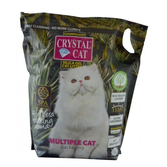CRYSTAL CAT NISIP SILICATIC ALOE 7.6 L imagine