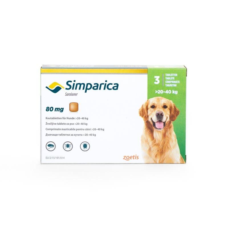 Simparica Caini 80 mg (20 - 40 kg), 3 tablete imagine
