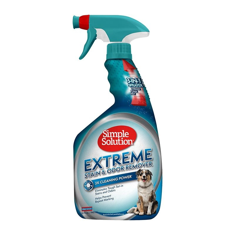 Simple Solution Dog Extreme Stain and Odour Remover, 945 ml imagine