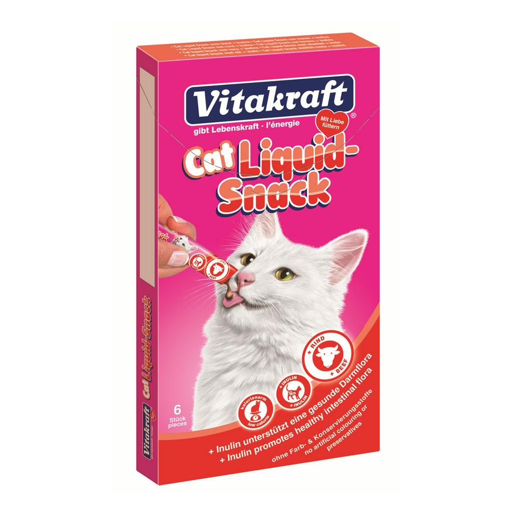 Snacks Pisica Liquid Vita/Inulina 6x15 G imagine