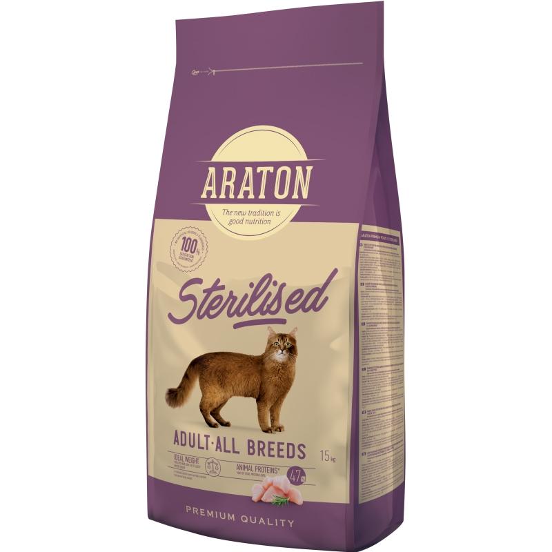 Araton Cat Sterilised, 15 Kg imagine