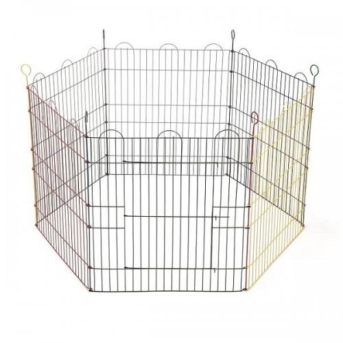 Tarc pentru iepuri, 6 laturi, 105x105x58 cm imagine
