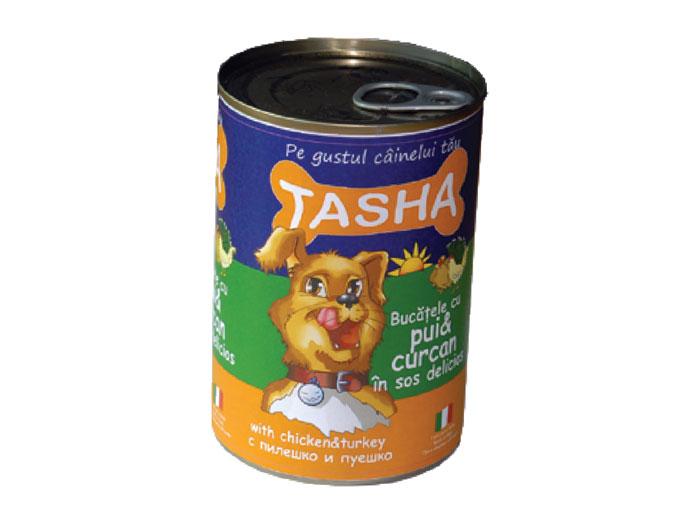 Tasha Dog Pui-Curcan Conserva 415 g imagine