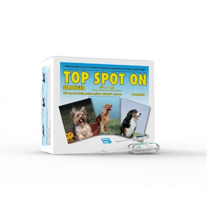 Top Spot-On Stronger for Dog, Bioveta, 1 ml x 50 pipete imagine