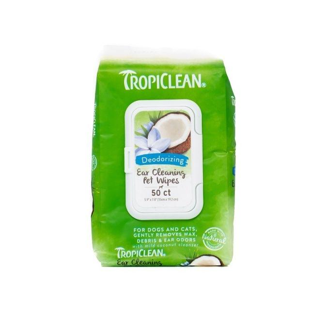 Servetele pentru urechi, Tropiclean Deodorizing, 50 buc imagine