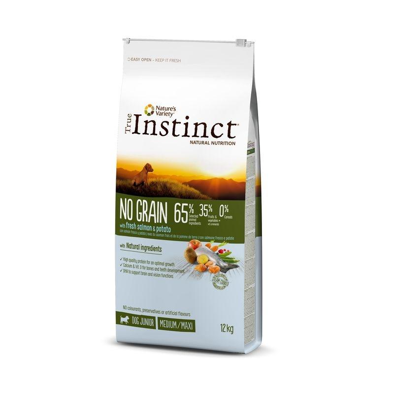 True Instinct Dog No Grain Medium - Maxi Puppy Cu Somon, 12 Kg imagine