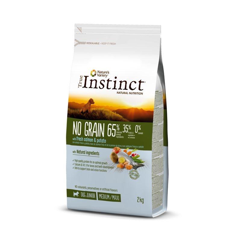 True Instinct Dog No Grain Medium - Maxi Puppy cu somon, 2 kg imagine