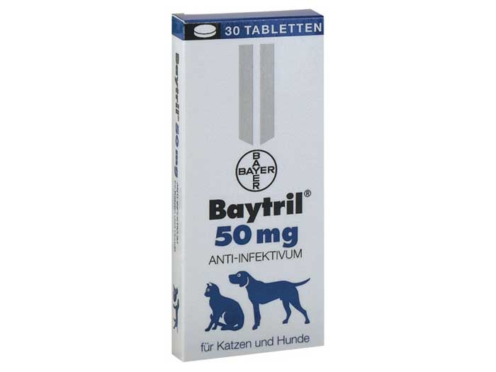 Baytril Flavoured 50 mg x 30 tbl imagine